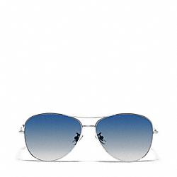 COACH L915 Jaclyn Sunglasses  SILVER