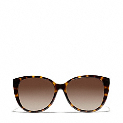 COACH L926 Faye Cat Eye Sunglasses DARK TORTOISE