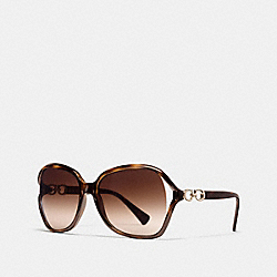 COACH L948 Kissing C Sunglasses DARK TORTOISE