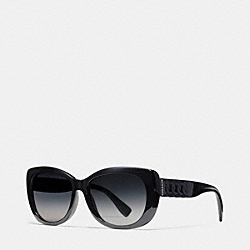 COACH L950 Curbchain Cat Eye Sunglasses BLACK