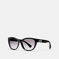 COACH L954 Horse And Carriage Cat Eye Sunglasses BLACK