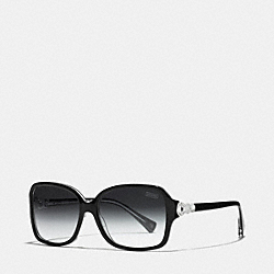 COACH LP020 Frances Polarized Sunglasses BLACK/CRYSTAL