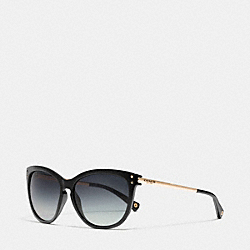 COACH LP072 Celia Polarized Sunglasses  BLACK/GOLD