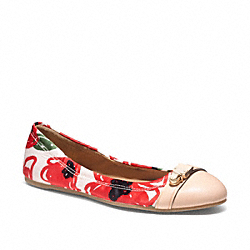 COACH Q1679 Delphine IVORY RED/NATURAL