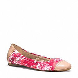 COACH Q2078 Callie Flat PINK ORANGE/NATURAL