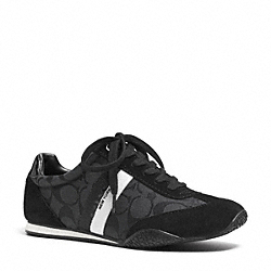COACH Q2083 Kortney Sneaker BLACK/BLACK