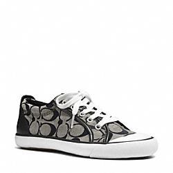 COACH Q3132 Barrett Sneaker BLACK WHITE/BLACK