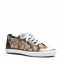 COACH Q3132 Barrett Sneaker KHAKI/CHESTNUT