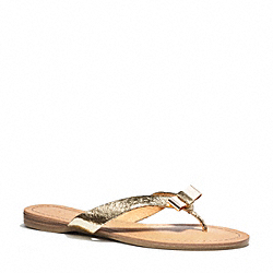 COACH Q3259 Sable Sandal GOLD