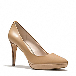 COACH Q3298 Giovanna Heel LIGHT GOLDGHT CAMEL
