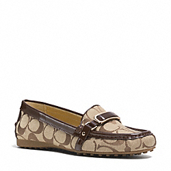 COACH Q3422 Flynn Loafer KHAKI/CHESTNUT