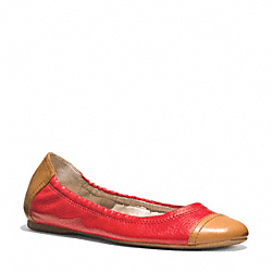 COACH Q3611 Callie Flat VERMILLIGHT GOLDON/GINGER