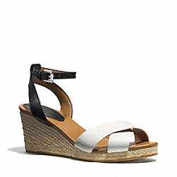 COACH Q3627 Hanna Wedge CHALK/BLACK