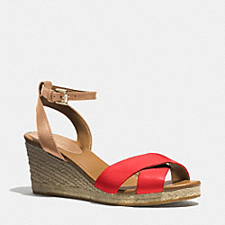 COACH Q3627 Hanna Wedge VERMILLION/NATURAL