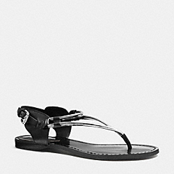 COACH Q4056 Cassandra Sandal WARM PEWTER/BLACK
