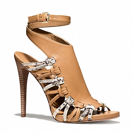 COACH q4073 JODY HEEL NATURAL/BONE