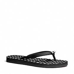 COACH Q4113 Amel Sandal BLACK/BLACK
