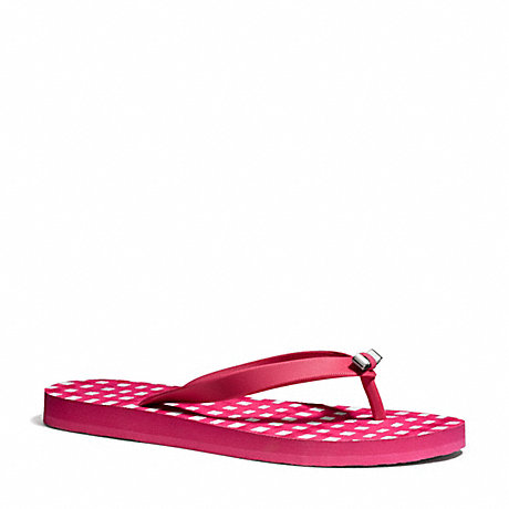 COACH q4113 AMEL SANDAL CHERRY/WHITE