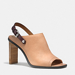 COACH Q4365 Mackenzie Heel NATURAL/OXBLOOD