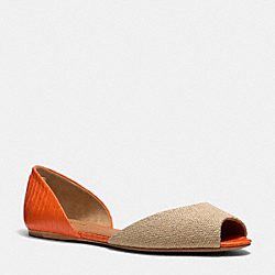 SHERLOCK FLAT - q4554 - NATURAL/PAPAYA