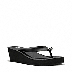 COACH Q4573 Loralyn Wedge BLACK