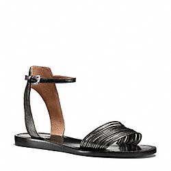 COACH Q4577 Melynda Sandal PEWTER