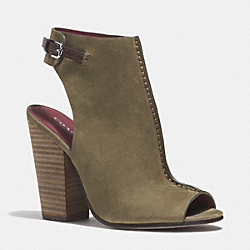 COACH Q4663 Saratoga Heel OLIVE FATIGUE/CHESTNUT