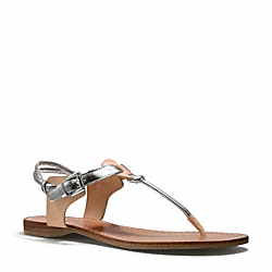 COACH Q6003 Clarkson Sandal BRUSHED IMITATION RHODIUM