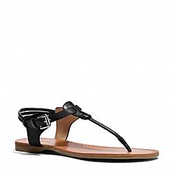 COACH Q6003 Clarkson Sandal BLACK/BLACK