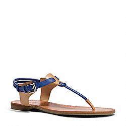 COACH Q6003 Clarkson Sandal DEEP MARINE/NATURAL
