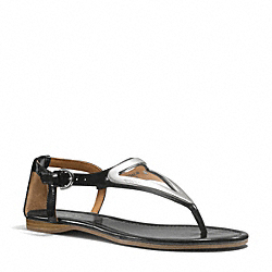 COACH Q6080 Chailey Sandal BLACK