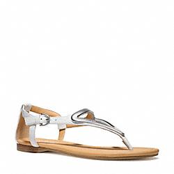 COACH Q6080 Chailey Sandal CHALK