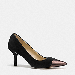 COACH Q6113 Zayna Pump  BLACK/COPPER