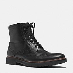 COACH Q6186 Brandon Boot  BLACK