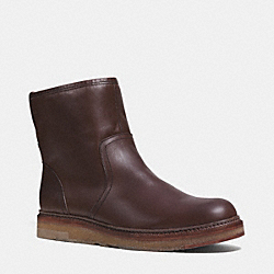 COACH Q6195 Harvey Boot  MAHOGANY/NATURAL