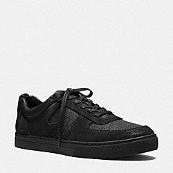 COACH Q6200 Duke Sneaker BLACK/BLACK