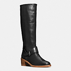 COACH Q6269 Cecelia Boot BLACK