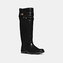 COACH Q6298 Talia Rainboot BLACK/BLACK