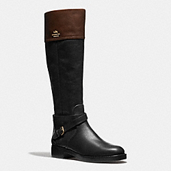 COACH Q6301 Elm Boot BLACK/MAHOGANY