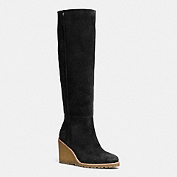 COACH Q6323 Keely Boot BLACK BLACK