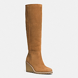 COACH Q6323 Keely Boot GINGER NATURAL