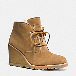 COACH Q6402 Karson Bootie GINGER/NATURAL