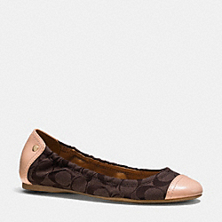 COACH Q6534 Callie Flat  BROWN MAH/NATURAL