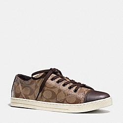 COACH Q6733 Parkway Sneaker KHAKI/CHESTNUT