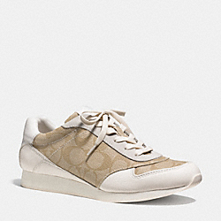COACH Q6735 Rebecca Sneaker LIGHT KHAKI/CHALK