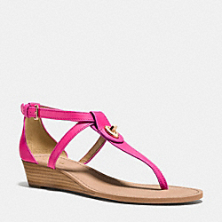COACH Q6836 Ingrid Wedge PINK RUBY