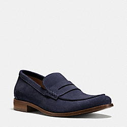 COACH Q6966 Gramercy Penny Loafer MIDNIGHT NAVY