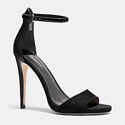 COACH Q7037 Josephina Heel BLACK/BLACK