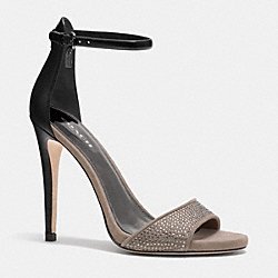COACH Q7037 Josephina Heel LIGHT GOLD FEATHER GREY/BLACK