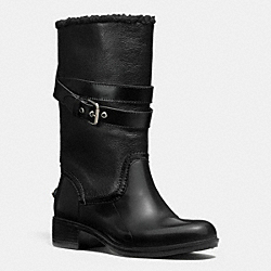 COACH Q7057 Zena Boot BLACK/BLACK